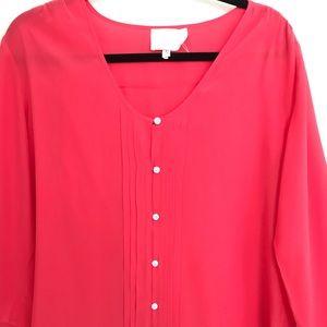 Yumi Kim size large coral blouse
